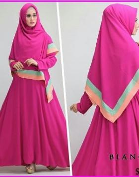 Gamis Syar'i Modern Bahan Jersey Bianca Syar'i-1