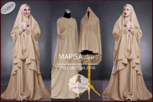 Gamis Untuk Lebaran Bahan Jersey Marisa Syar'i-1