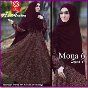 Baju Gamis Cantik Dan Mewah Mona 6 Syar'i