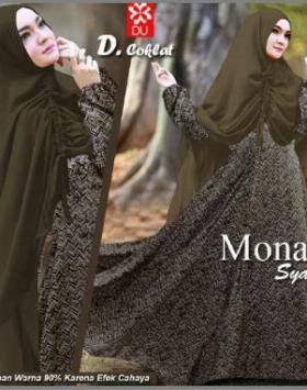 Baju Gamis Cantik dan Mewah Mona 6 Syar'i-2