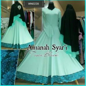 Baju Gamis Terbaru Edisi Lebaran Aminah Syar'i-1