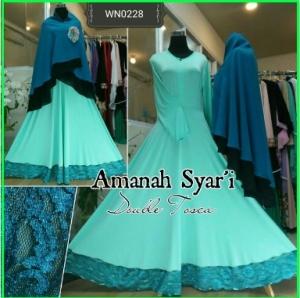 Baju Gamis Terbaru Edisi Lebaran Aminah Syar'i