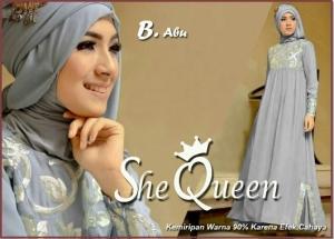 Busana Muslim Pesta Mewah She Queen-1