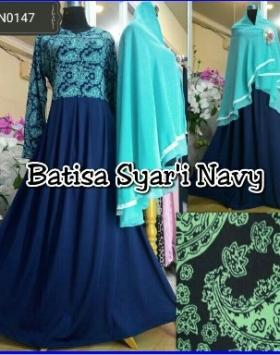 Gamis Batista Syar'i-1 Motif Batik