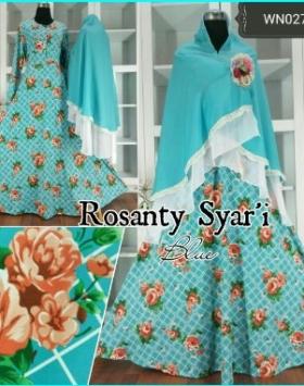 Gamis Cantik Syar'i Edisi Lebaran Rosanty Syar'i