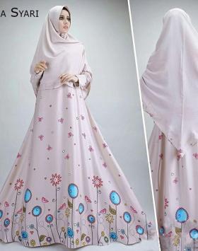 Baju Gamis Cantik Bahan Maxmara Rahma Syar'i