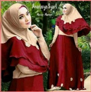Baju Gamis Cantik Dan Anggun Bahan Jersey Anastasya Syar'i-1