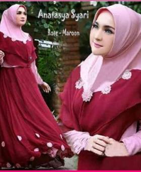 Baju Gamis Cantik Dan Anggun Bahan Jersey Anastasya Syar'i-3