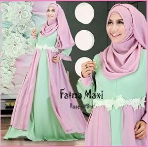 Baju Gamis Cantik Dari Bahan Jersey Fatma Syar'i-2
