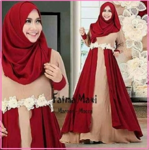 Baju Gamis Cantik Dari Bahan Jersey Fatma Syar'i-3