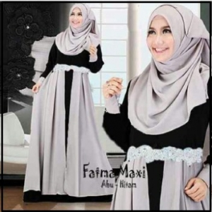 Baju Gamis Cantik Dari Bahan Jersey Fatma Syar'i