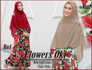 Baju Muslim Terbaru Anggun Flowers Syar'i