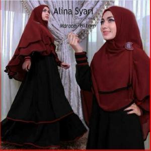 Gamis Jersey Cantik Alina Syar'i-3