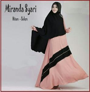 Gamis Muslimah Bahan Jersey Eksklusif Miranda Syar'i-1