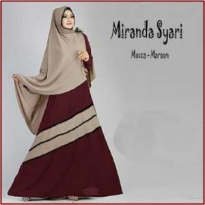 Gamis Muslimah Bahan Jersey Eksklusif Miranda Syar'i