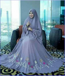 Gamis Muslimah Model Terbaru Bahan Spandex Korea Keisya Syar'i-1