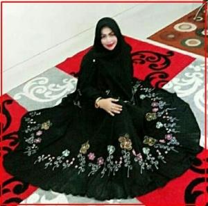 Gamis Muslimah Model Terbaru Bahan Spandex Korea Keisya Syar'i