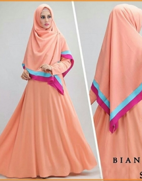 Gamis Syar'i Modern Bahan Jersey-1 Bianca Syar'i