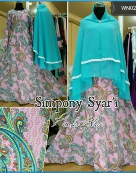 Baju Gamis Pesta Bahan Full Ceruty Symphony Syar'i