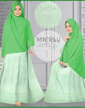 Baju Gamis Terbaru Cantik Bahan Bubble Pop Sherly