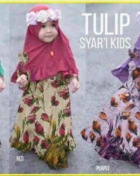 Baju Muslim Anak Perempuan Tulip Syar'i Kid's