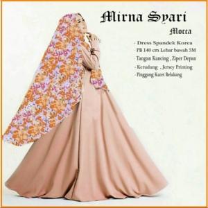 Baju Muslim Wanita Cantik Terbaru Mirna Syar'i-2