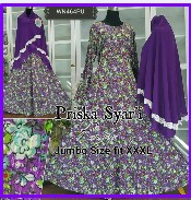 Baju Muslim Wanita Modern Bahan Prisket Syar'i-1