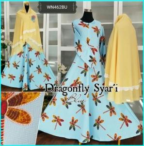 Gamis Jumbo Bahan Waffle Dragonfly Syar'i-2