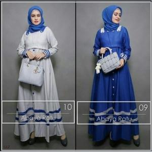 Busana Muslim Terbaru Abaya Ratu Bahan Baloteli-1