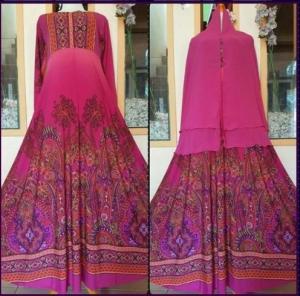 Baju Muslim Cantik Ukuran Besar Bahan Jersey Super Khinanti