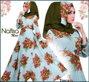 Baju Muslim Wanita Terbaru Bahan Bubble pop Nafisa Tosca