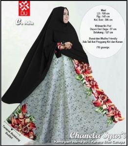Gamis Cantik Terbaru Dengan Bahan Baloteli Chanella Syar'i Abu