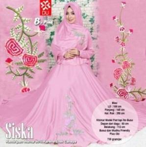 Baju Gamis Cantik Premium Bahan Balotelli Siska Syar'i Pink