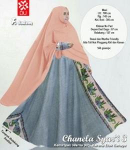 Baju Gamis Katun Bangkok Chanela Syar'i Salem