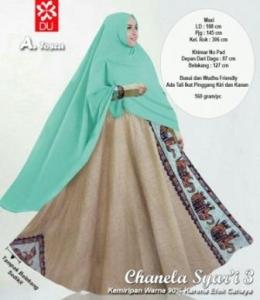 Baju Gamis Katun Bangkok Chanela Syar'i Tosca