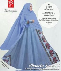 Baju Gamis Katun Bangkok Chanela Syar'i Turquise