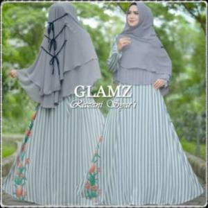 Baju Gamis Terbaru Modis Bahan Bubble Pop Razani Syar'i-d