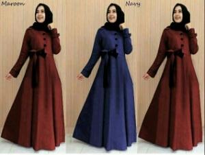 Busana Muslim Modern Cantik Ukuran Kecil Dress Hazel