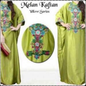 Busana Muslim Modern Dengan Model Kaftan Melan-c