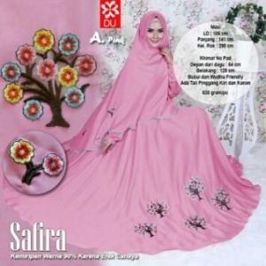 Baju Gamis CAntik Dan Modis Bahan Woolpeach Safira Syar'i Pink