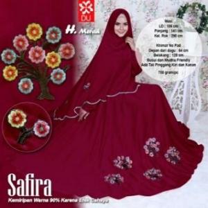 Baju Gamis Cantik Dan Modis Bahan Wolfis Safira Syar'i Merah