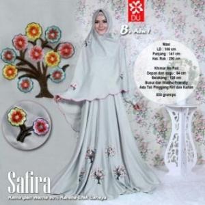 Baju Gamis Cantik Dan Modis Bahan Wool Peach Safira Syar'i Abu-1