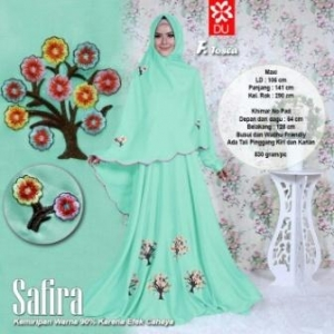 Baju Gamis Cantik Dan Modis Bahan wolfis Safira Syar'i Toska