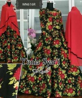 Baju Muslim Wanita Terbaru Bahan Wollycrepe Yunia Syar'i