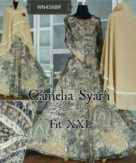 Baju Muslim Wanita Ukuran Besar Camelia Syar'i