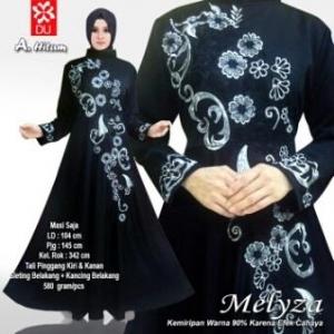 Baju Muslim Wanita Untuk Pesta Meliza hitam