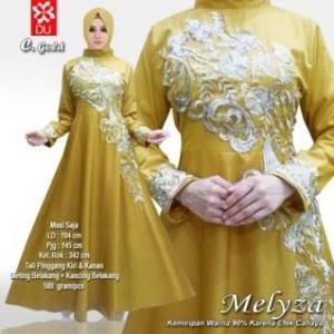 Baju Muslim wanita untuk Pesta Meliza Gold