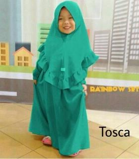 Busana Muslim Anak Cantik Bahan Jersey Zura Kids Tosca