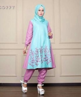 Busana Muslim Modern Cantik Dengan Bahan Balotelli Soffy Set