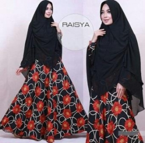 Busana Muslim Terbaru Syar'i Bahan Maxmara Lux Raisya Syar'i Black